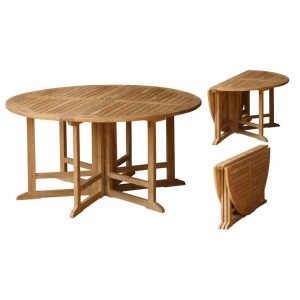 Teak Gateleg Folding Tables